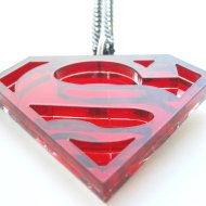 Red Superman Necklace