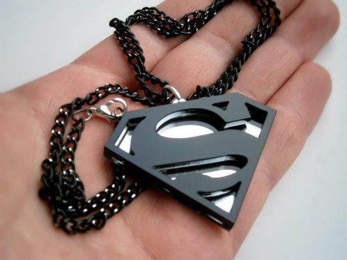 Black Superman Pendant