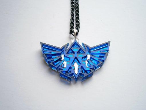 Blue Legend of Zelda Necklace - Hyrule's Royal Crest