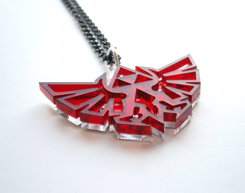 Bleu Legend of Zelda Necklace - Hyrule's Royal Crest