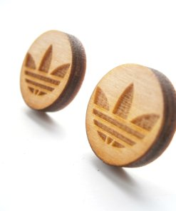 adidas wooden stud earrings