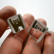 Good and Bad Bear Cuff Links