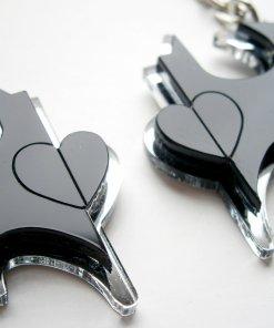 Best Friends Batman Keychain - Friendship Keychains - Engraved Heart