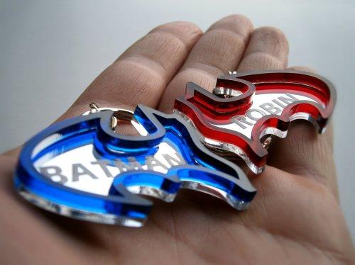 Batman Friendship Keychain Engraved Batman And Robin