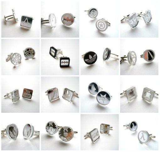 Acrylic cufflinks