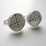 ornament cuff links laser cut mirror