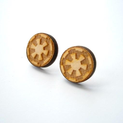 Star Wars Imperial Wooden Stud Earrings
