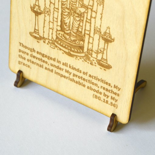 Postcard Vishnu lasercut and engraved from wood perfect gift 2