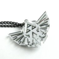 Zelda necklace - Hyrule royal crest laser cut mirror plastic
