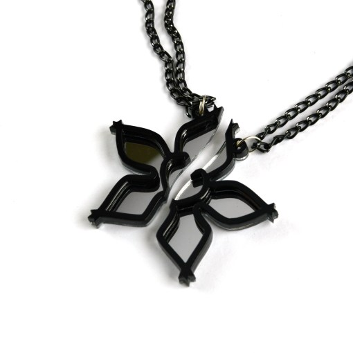 Kingdom Hearts Wayfinder best friends necklaces Laser cut from mirror and black acrylic