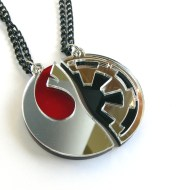 Star Wars couple necklaces Laser cut from mirror plastic