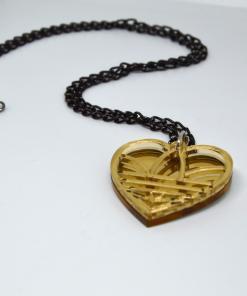 Adidas Necklace Golden Heart3