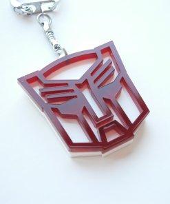 Optimus keychain red and white