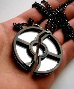 pokeball necklace black 5