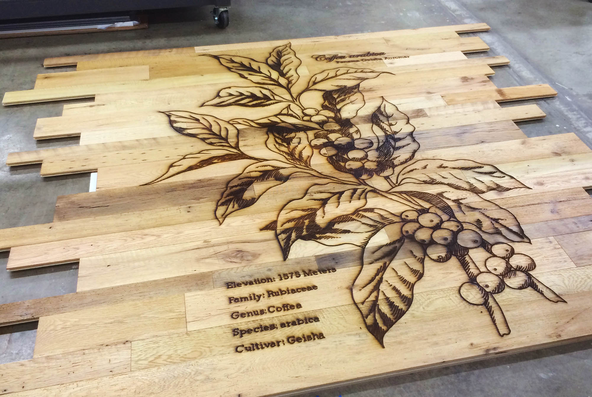 large format wood wall cladding laser engraving panel
