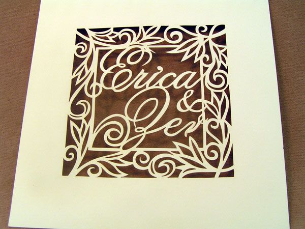 Laser Cut Paper Invite Cover Laser Cutting Shapes