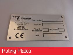 Rating Plates