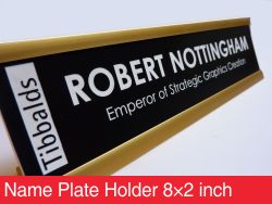 Name Plate Holder 8×2 inch