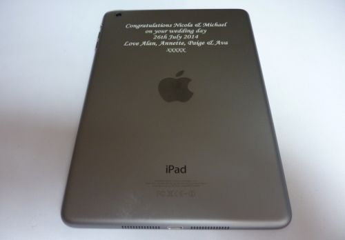 iPad, iPhone, iPod or any tablet Laser Engraving Service