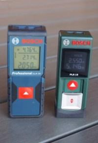 Vergleich Bosch GLM 30 und Bosch PLR 15 Laserentfernungsmesser