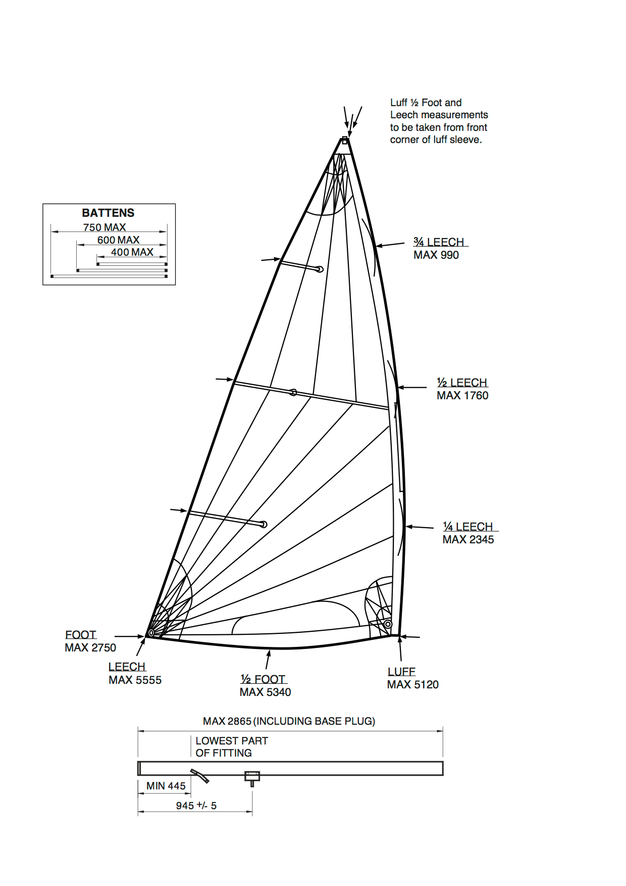 hight resolution of measurement diagram stdmkii sail mastlower