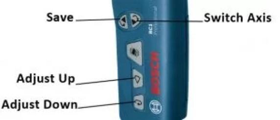 Bosch RC1 laser level remote calibration