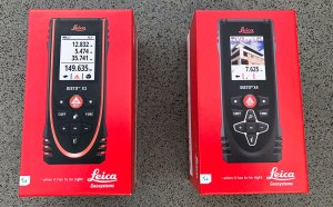 New Leica Disto X3 and X4 boxing