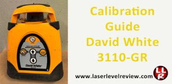 David White 3110-GR Calibration Instructions and Guide