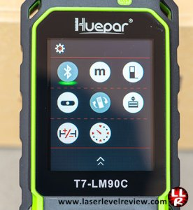 Huepar T7-LM setting menu