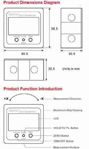 Spot-On Mini Digital Inclinometer 0.05° Magnetic Plus