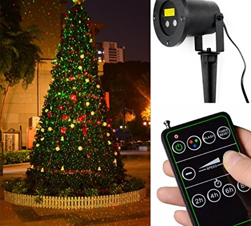 Starry red and green 2 colors laser projector with remote control projector with remote control outdoor waterproof star projector laser landscape projector holiday laser light dazzling effects with wireless remote aloadofball Gallery