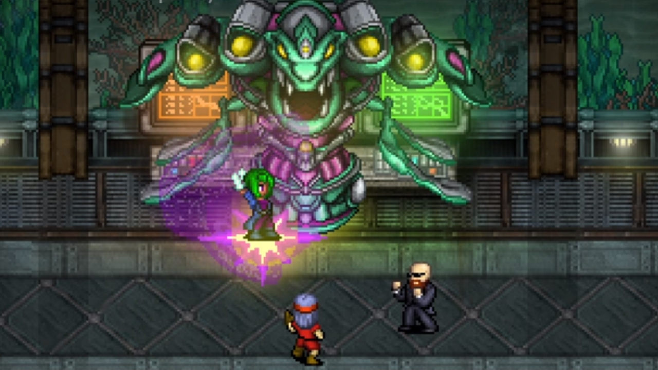 Cosmic Star Heroine Aquatic Lizard Boss Battle