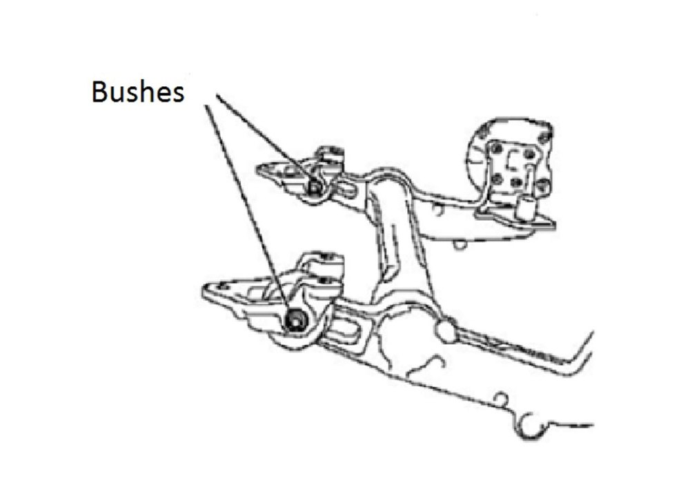 medium resolution of rear axle beam bush kit vauxhall opel part no 6603 part of the vauxhall vag ball joints range from laser tools