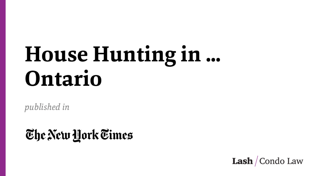 House Hunting in … Ontario