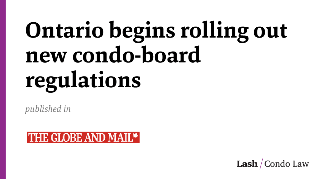Ontario begins rolling out new condo-board regulations