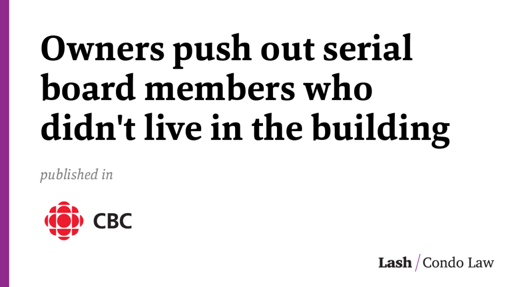 Condo clash: Owners push out serial board members who didn't live in the building