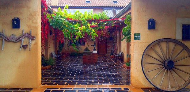 El patio central de la casa rural