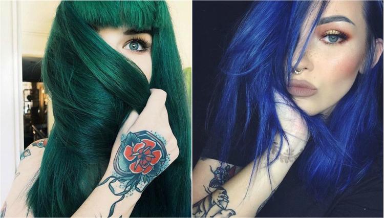 √ Tingere i capelli di blu o verde  tutto quello che dovete af35f6ed7cee