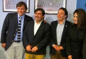 Core y alcaldes del litoral central.