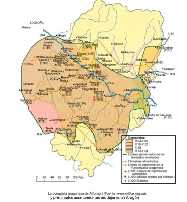 Mapa mudéjares Aragon