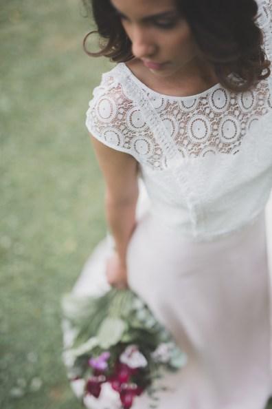 Robe de mariée rose Les Mariées Fox