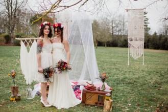 Mariage bohème et vintage