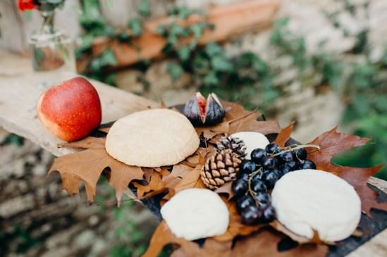 buffet de fromages à un mariage en automne