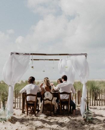 Un mariage intimiste sur la plage à Arcachon