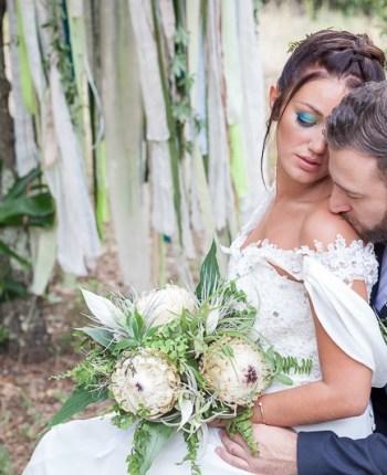 Inspirations pour un mariage tropical