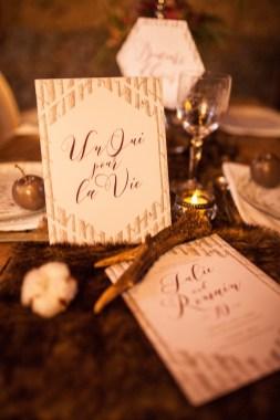 Faire-part pour un mariage sur le thème de la forêt