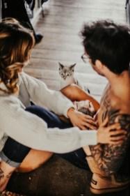 Couple et un chat