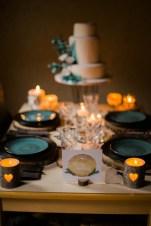 Décoration de table pour un mariage sur le thème de la montagne