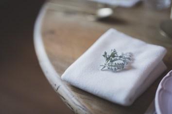 Serviette de table pour une décoration hivernale