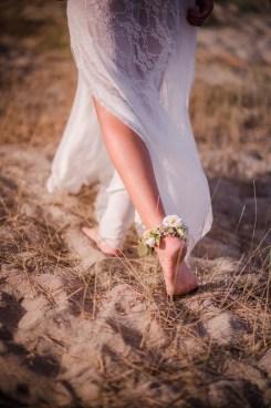 Bracelet de pieds pour la mariée